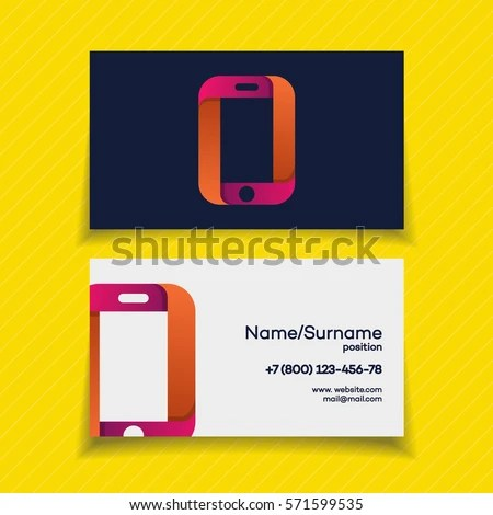Business Card Design Template Phone Logo Stock Vector (Royalty Free