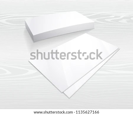 Business Card Mockup Blank Template Simple Stock Vector (Royalty