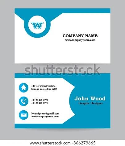 Business Card Business Card Template Business Stock Vector (Royalty