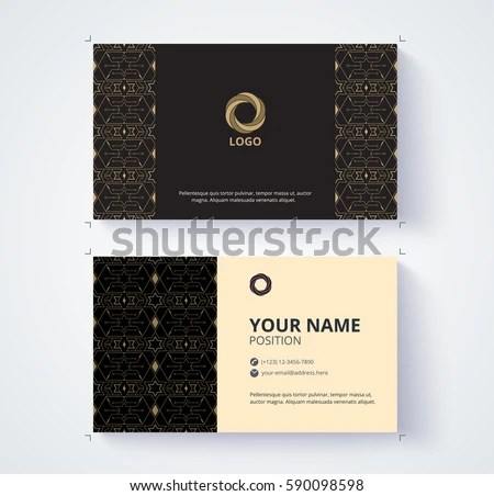 Business Card Template Example Logo Text Stock Vector (Royalty Free