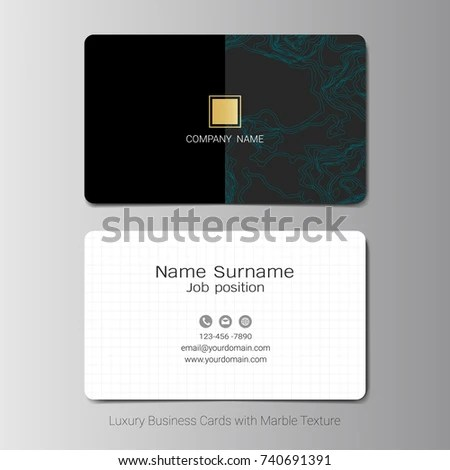 Business Cards Vector Template Abstract Green Stock Vector (Royalty