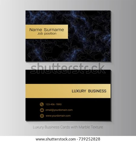 Business Cards Vector Template Banner Cover Stock Vector (Royalty
