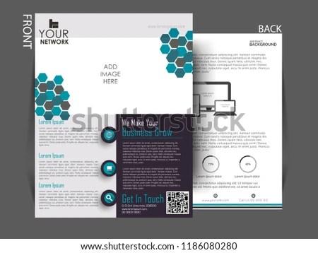 Business Company Profile Annual Report Brochure Stock Vector