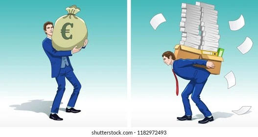 Business Concept Clipart Business Man Money Stock Vector (Royalty