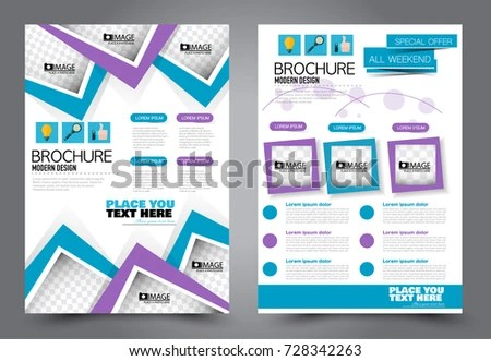 Business Flyer Design Template Stationary Abstract Stock Vector