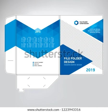 Business Folder Design Cover Template Layout Stock Vector (Royalty