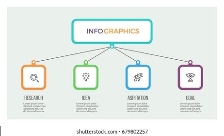 Business Hierarchy Infographic Organization Chart 5 Stock Vector