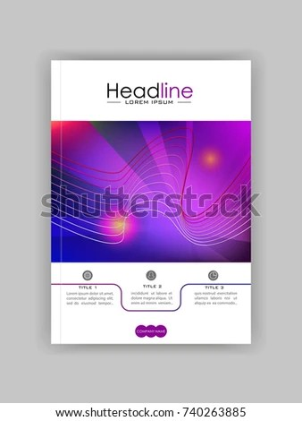 Business Journal Book Cover Design Template Stock Vector (Royalty
