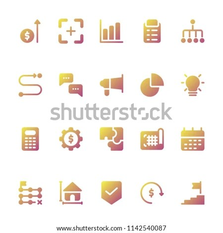 Business Plan Icons Any Purposes Perfect Stock Vector (Royalty Free