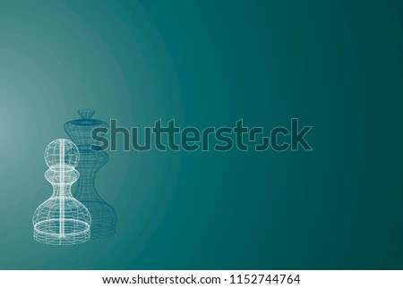 Business Presentation Background Chess Piece Pawn Stock Vector