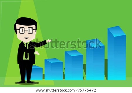 Business Presentation Cartoons Young Stock Vector (Royalty Free