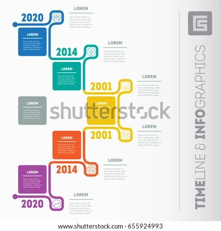 Business Presentation Timeline Concept 5 Options Stock Vector