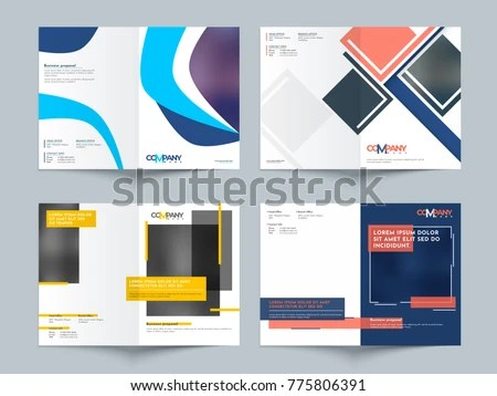 Business Proposals Cover Page Design Set Stock Vector (Royalty Free