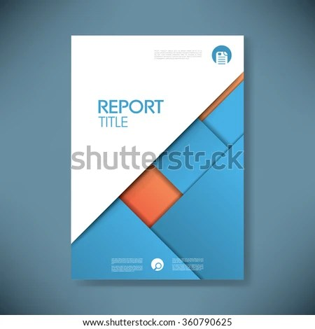Business Report Cover Template On Blue Stock Vector (Royalty Free