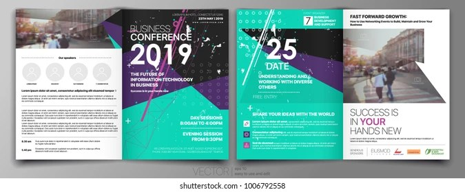 Conference Brochure Cover Images, Stock Photos  Vectors Shutterstock