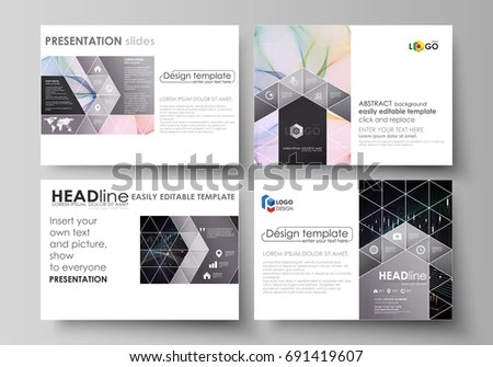 Business Templates Presentation Slides Vector Layouts Stock Vector