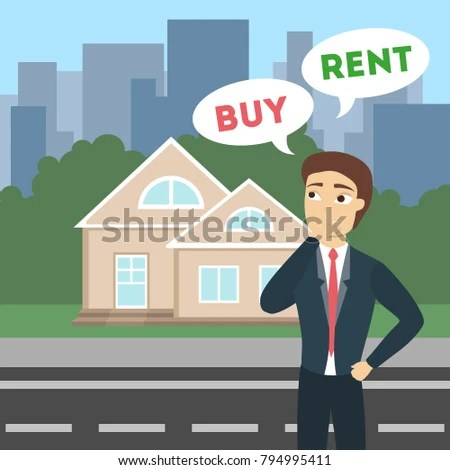 Buy Rent House Real Estate Selling Stock Vector (Royalty Free