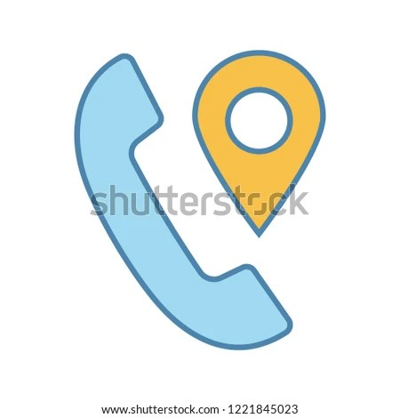 Calls Tracking Color Icon Incoming Call Stock Vector (Royalty Free