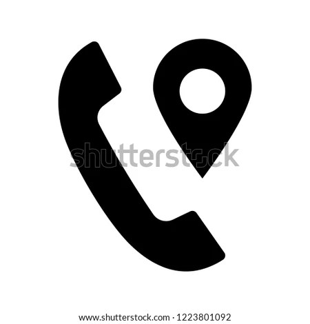 Calls Tracking Glyph Icon Incoming Call Stock Vector (Royalty Free
