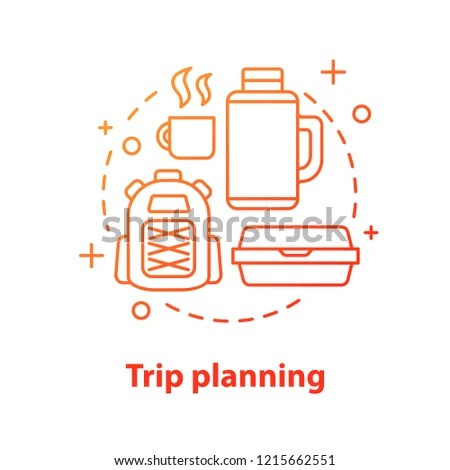 Camping Concept Icon Trip Planning Picnic Stock Vector (Royalty Free