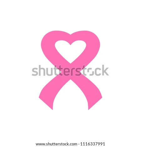 Cancer Ribbon Logo Template Stock Vector (Royalty Free) 1116337991