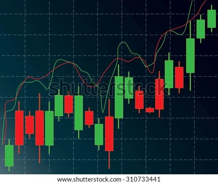 Candlestick Trading Chart Forex Day Trading Stock Vector (Royalty