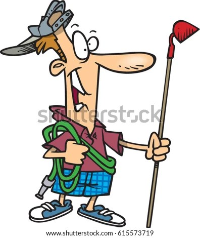 Cartoon Man Ready Yard Work Stock Vector (Royalty Free) 615573719