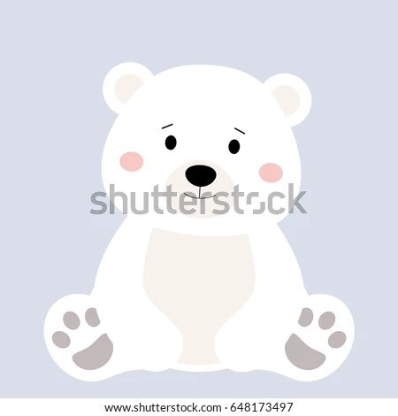 Cartoon Polar Animal Cute White Bear Stock Vector (Royalty Free