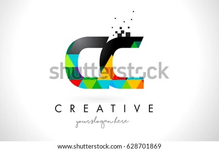 CC C C Letter Logo Colorful Stock Vector (Royalty Free) 628701869