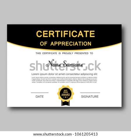 Certificate Appreciation Template Vector Trendy Geometric Stock