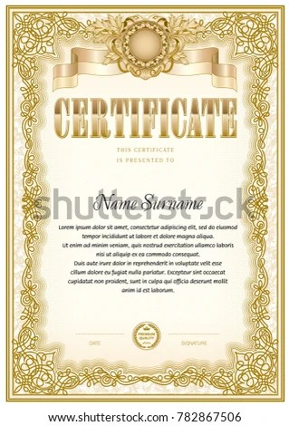 Certificate Blank Template Can Be Use Stock Vector (Royalty Free