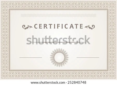 Certificate Border Template Design Stock Vector (Royalty Free - certificate border template