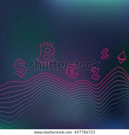 Chart On Dark Background Currency Exchange Stock Vector (Royalty