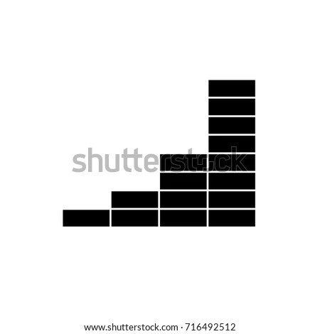 Chart Schedule Graph Diagram Icon Black Stock Vector (Royalty Free