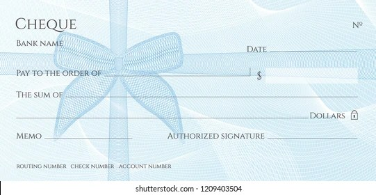 blank check template Images, Stock Photos  Vectors Shutterstock