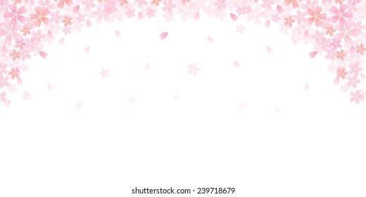 Cherry Blossoms Falling Stylized Wallpaper Cherry Blossom Background Images Stock Photos Amp Vectors