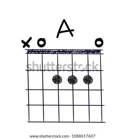 Chord Diagram Tab Tabulation Finger Chart Stock Vector (Royalty Free