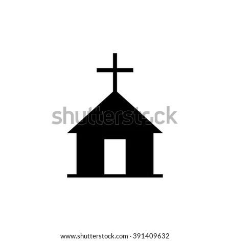 Christian Church Vector Icon Stock Vector (Royalty Free) 391409632