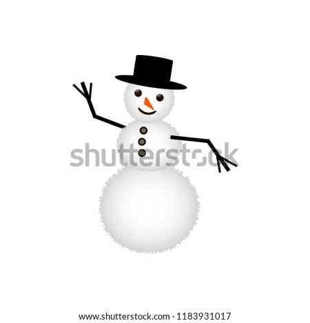 Christmas Element Snowman Icon Christmas Symbol Stock Vector