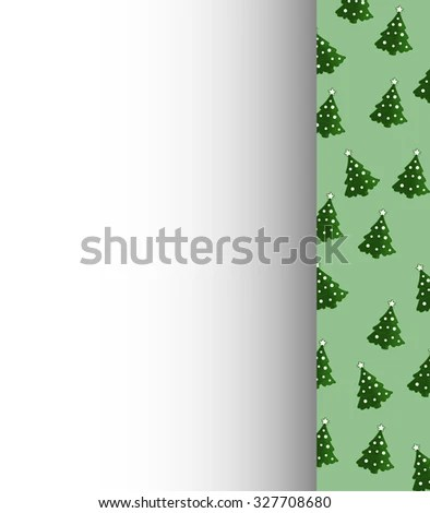 Christmas Letterhead Template Vector On Right Stock Vector (Royalty