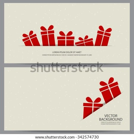Christmas New Year Gift Voucher Certificate Stock Vector (Royalty