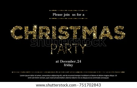 Christmas Party Invitation Template New Year Stock Vector (Royalty