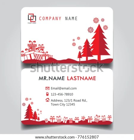 Christmas Red White Theme Creative Business Stock Vector (Royalty