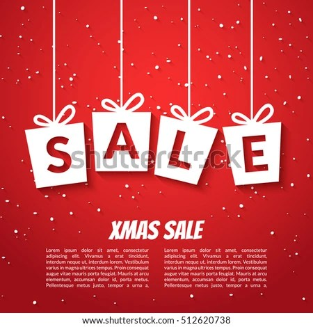 Christmas Sale Poster Template Xmas Sale Stock Vector (Royalty Free