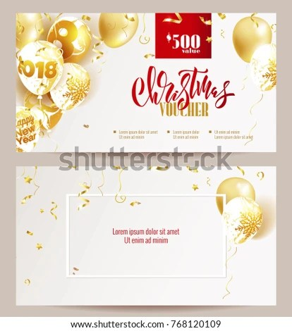 Christmas Voucher Templates Beautiful Holiday Background Stock