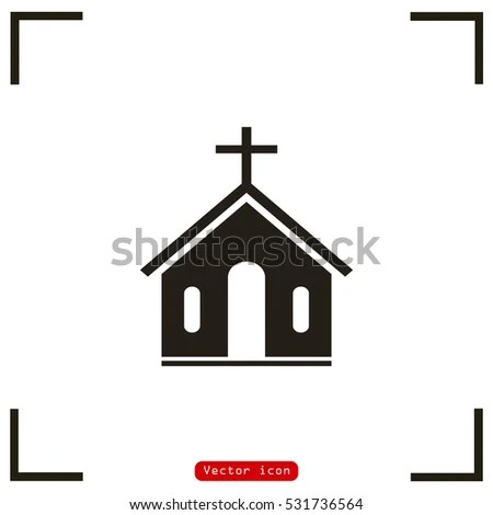 Church Vector Icon Stock Vector (Royalty Free) 531736564 - Shutterstock