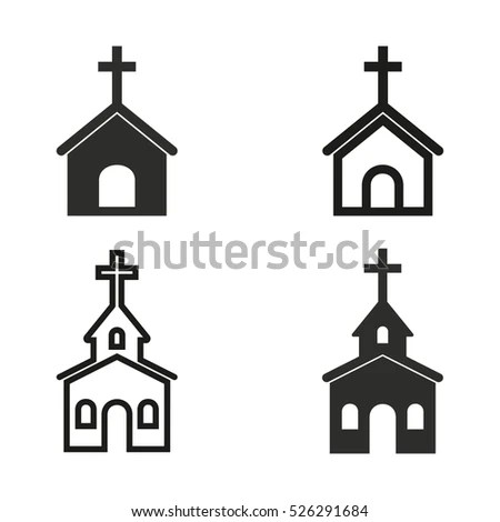 Church Vector Icons Set Illustration Isolated Stock Vector (Royalty