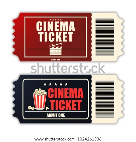 Cinema Ticket Set Template Two Realistic Stock Vector (Royalty Free