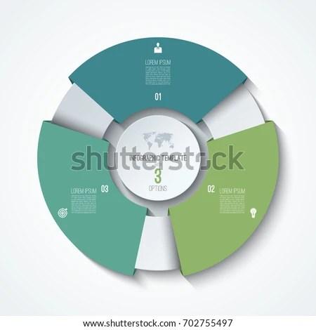 Circle Infographic Template Process Wheel Vector Stock Vector