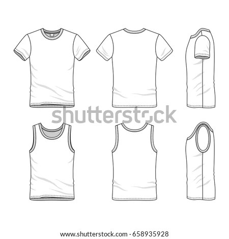 Clothing Set Blank Vector Templates White Stock Vector (Royalty Free